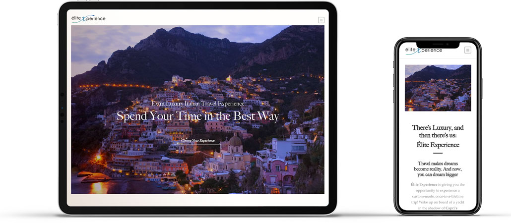 Visione Mobile Sito Web Elite Luxury Experience