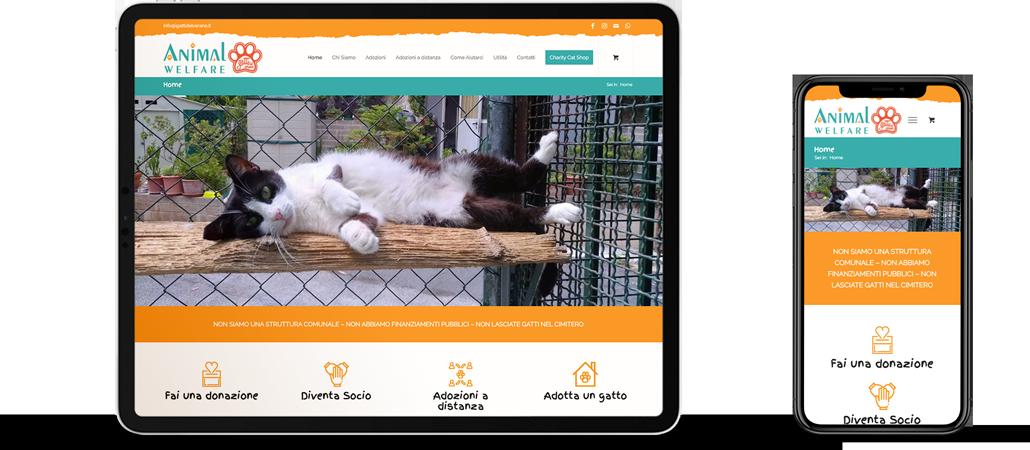 I gatti del Verano sito web responsive