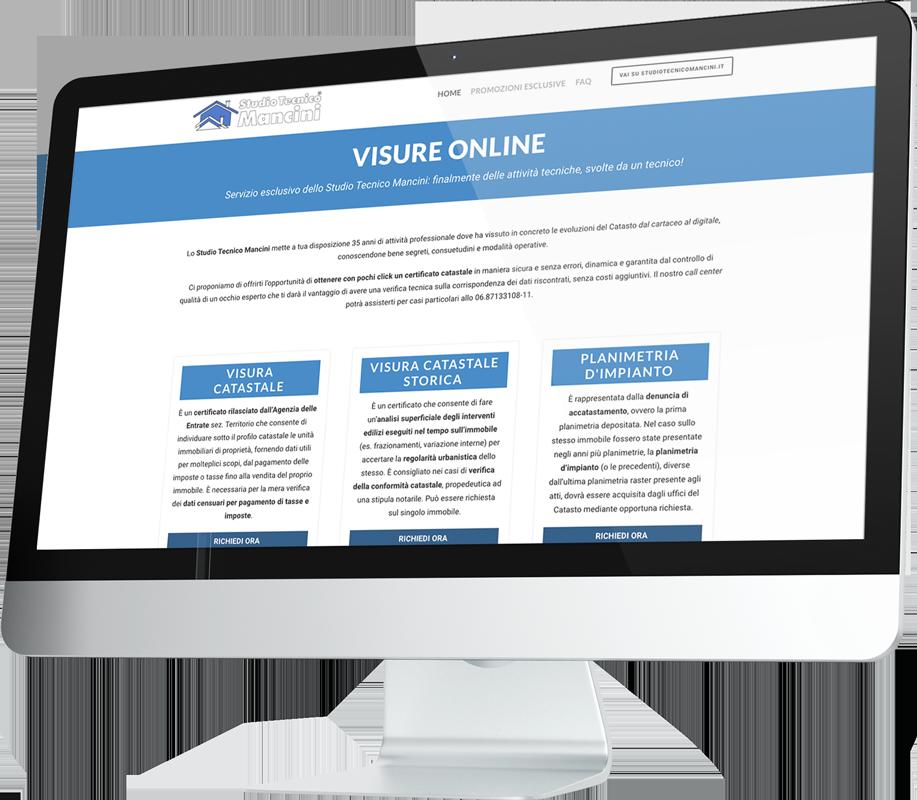 Visure Online e-commerce