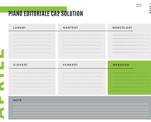 Piano editoriale Ca2 Solution