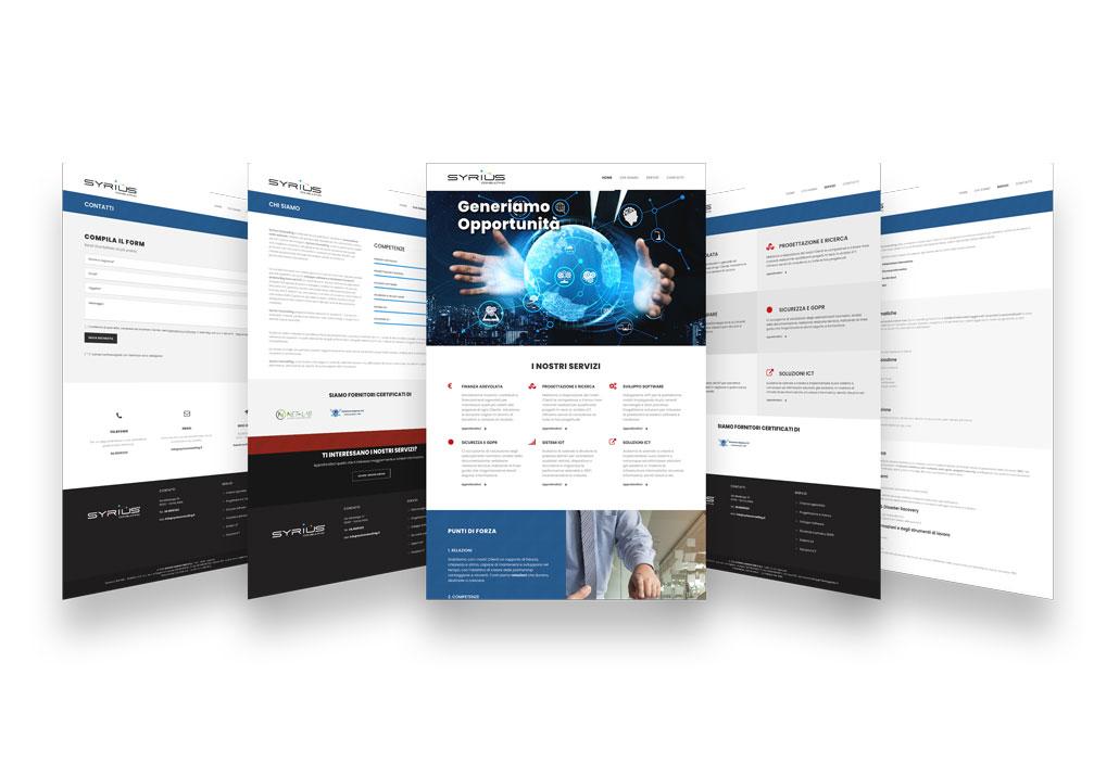 Paginazione Sito Web Syrius Consulting